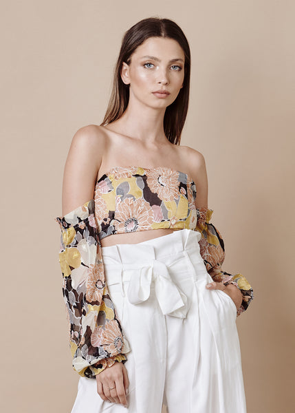 MALIA OFF SHOULDER CROP TOP