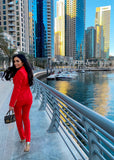 PAMELA TWO PIECES RED SET SUIT