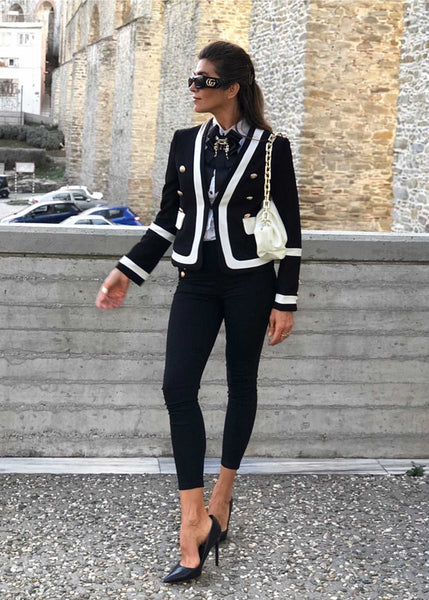 JORDIE BLACK & WHITE BLAZER JACKET