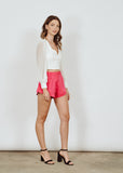 BRANDY CROPPED WHITE BLOUSE