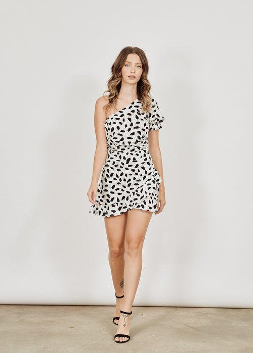 NAOMI POLKA DOTS MINI ROBE