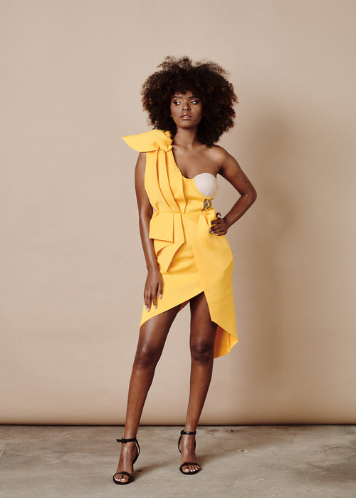 JANICE YELLOW DRESS