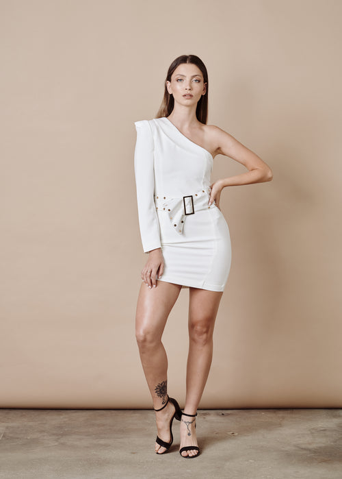 SIENNA WHITE MINI DRESS