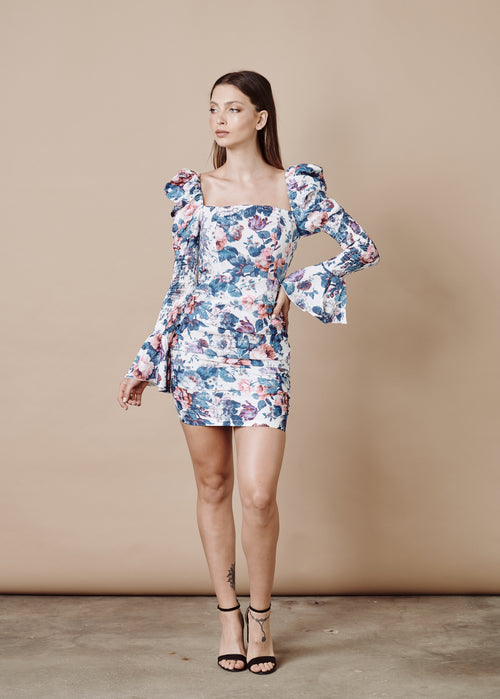SUSANNA LONG SLEEVES MINI DRESS