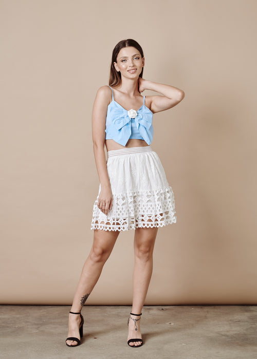 ALLISON WHITE SKIRT
