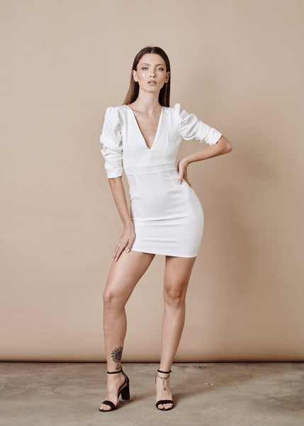 ADELE WHITE MINI DRESS