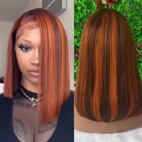 Ariel | 4X4 Red Human Hair Closure Lace Wig