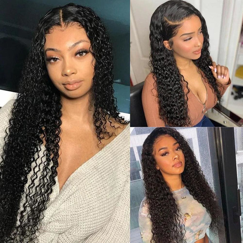 13*4 Frontal and 3 Bundles Water Wave Swiss Lace Virgin Human Hair