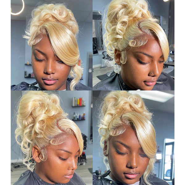 Benita| JET BLACK Preplucked Virgin Human Hair Lace Wig | Natural Wave