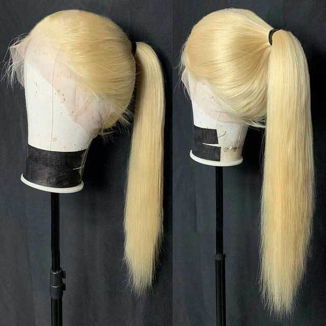 Amanda | Preplucked Blonde Human Hair Lace Wig | Silky Straight