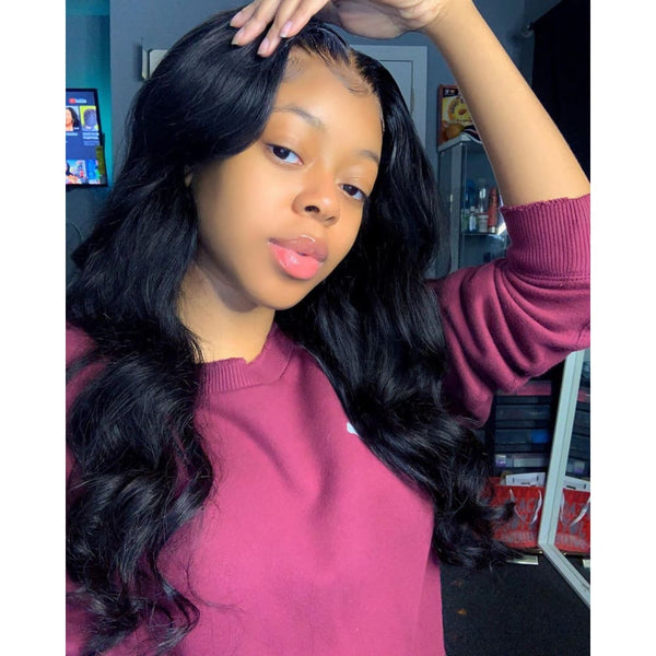 Anny | 13X6 Deep Parting Lace Front Preplucked Virgin Human Hair Lace Wig | Body Wave
