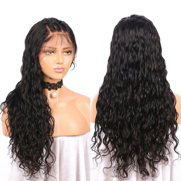 NEW 13*6 Skin Melt Lace Front Natural Wave Wig Invisible Swiss Lace+ Invisible Knots