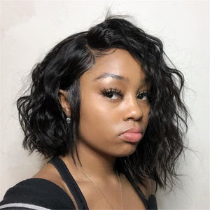 Caroline| Preplucked Virgin Human Hair 360 Bob Lace Wig | Natural Wave