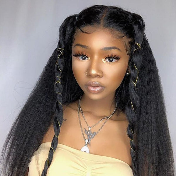 Claire| Preplucked Virgin Human Hair Lace Wig | Kinky Straight