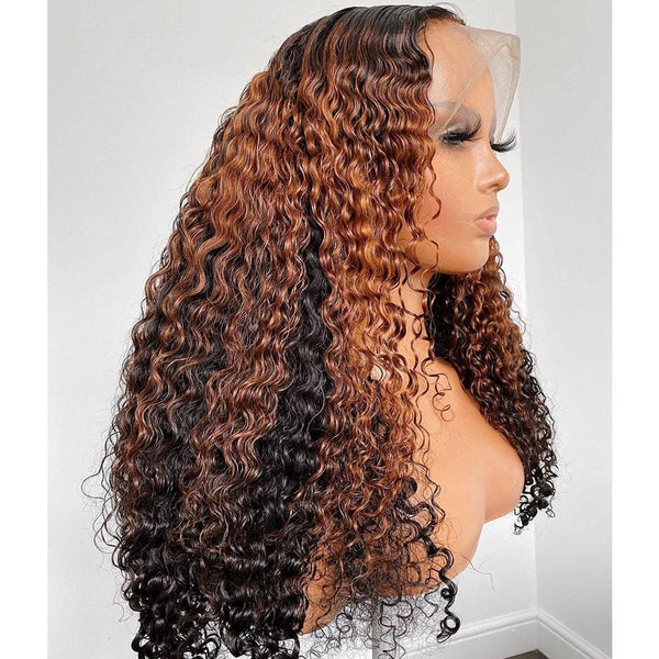 Delia | Preplucked Virgin Human Hair Precolored 360 Lace Wig | Curly