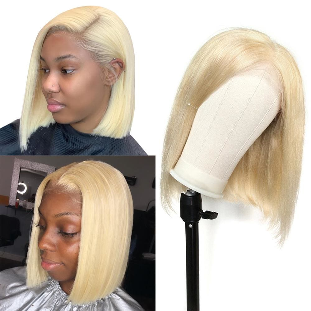 Diana| Preplucked 613 Blonde Human Hair BOB Lace Wig | Silky Straight