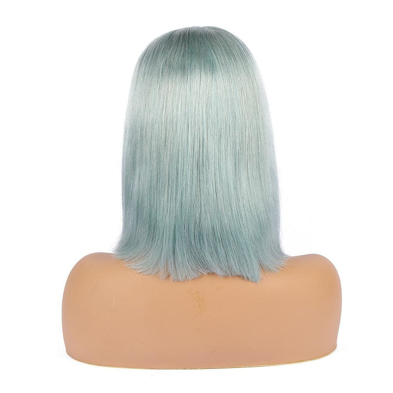 Fairy | Preplucked Mint Human Hair BOB Lace Wig | Silky Straight