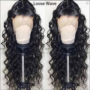 Invisible Knot Most Undectable Human Hair Loose Wave Lace Wig