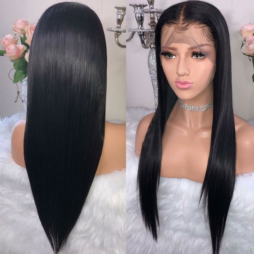 Jada | Diamond Fake Scalp 13X6 Human Hair Lace Front Wig | Silky Straight