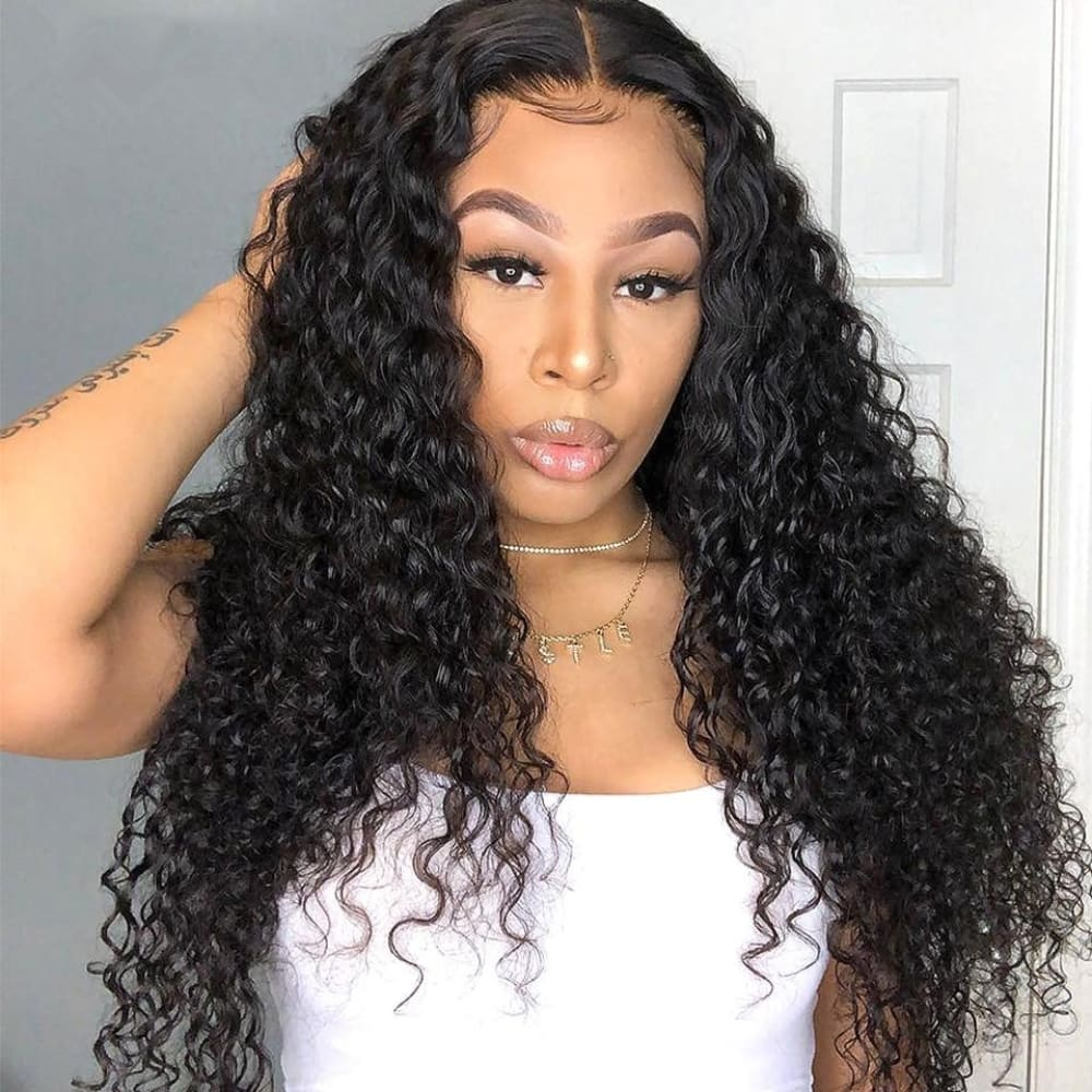 Laila | Diamond Fake Scalp 13X6 Human Hair Lace Front Wig | Water Wave