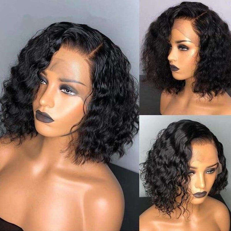 May| Preplucked Virgin Human Hair 360 Bob Lace Wig | Loose Wave