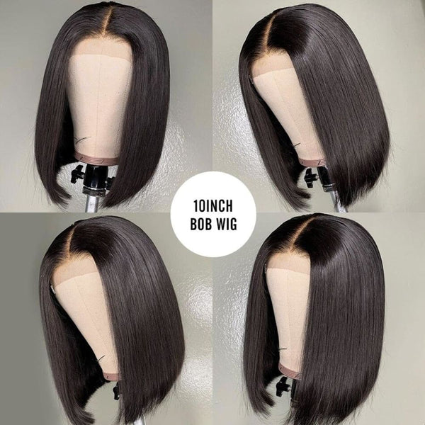 NEW 6 Inch Return No short hair 13*6 Skin Melt Lace Front BOB Wig