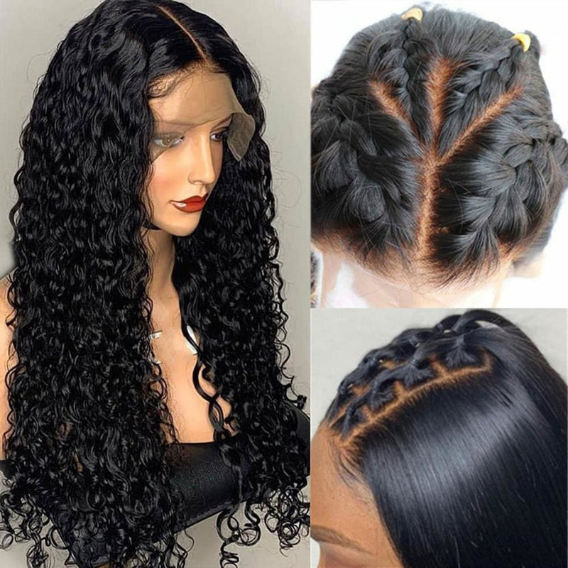 Nia | Diamond Fake Scalp 13X6 Human Hair Lace Front Wig | Curly