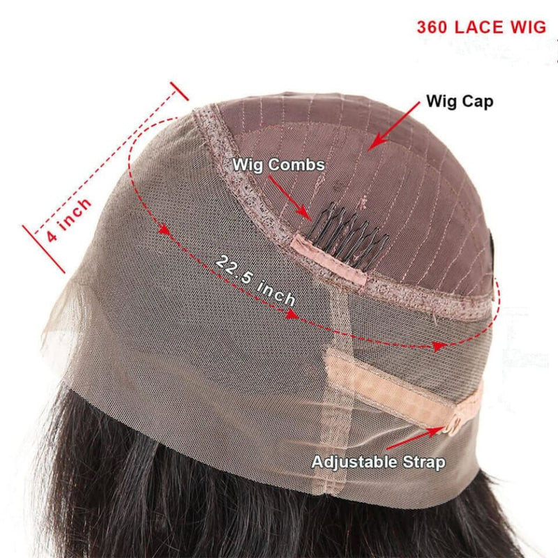 Preplucked Water Wave 360 Lace Front Human Hair Wig