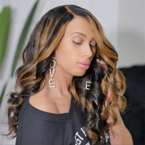 Quetta | Highlight Virgin Human Hair Closure Lace Wig Body Wave