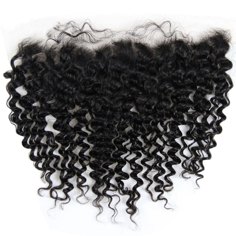 Swiss Lace Pre-Plucked Hairline Lace Frontal With Baby Hair Deep Wave