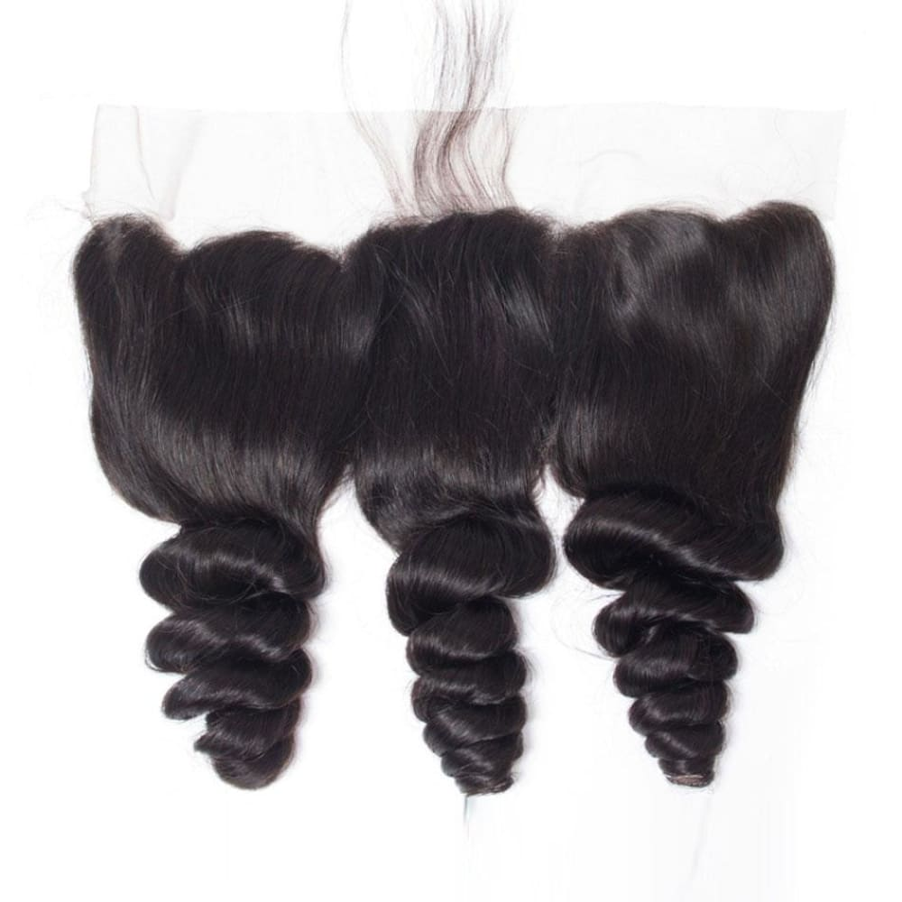 Swiss Lace Pre-Plucked Hairline Lace Frontal With Baby Hair Loose Wave