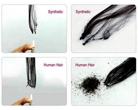 Hot to Tell Synthetic Hair from Human Hair