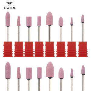 8 Type Ceramic flint Nail Drill Milling Nail Cutter Electric Nail Drill Bit For Manicure Pedicure
