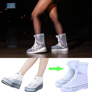 2019 New Outdoor Rain Shoes Boots Covers Waterproof Slip-resistant Overshoes Galoshes Travel for Men Women Kids