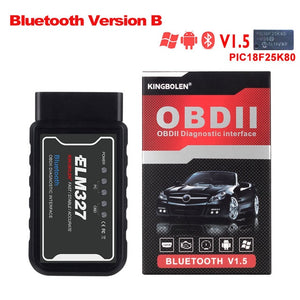 ELM327 Wifi Bluetooth V1.5 PIC18F25K80 Chip OBD2 Code Reader ELM 327 V1.5 OBDII Diagnostic Tool