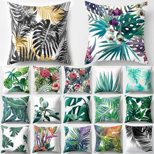 Tropical Leaf Cactus Monstera Cushion Cover Polyester Throw Pillows Sofa Home Decor Decoration
