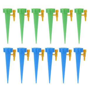 12pcs/set Auto Drip Irrigation Watering System Automatic Watering Spike for Plants Flower Indoor