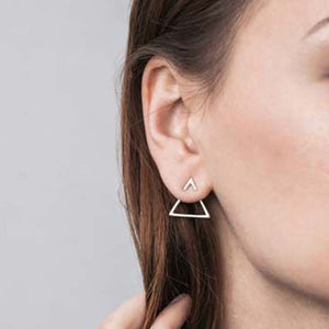 New Earrings Fashion Simple Stud Earrings Personality Trendy Three ways to wear Triangle Earring