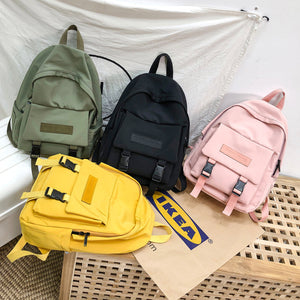 2019 Backpack Women Backpack Fashion Women Shoulder Bag solid color School Bag For Teenage Girl Children Backpacks Travel Bag