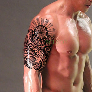 Waterproof Temporary Tattoo Stickers Tribal Totem Fake Tatto Flash Tatoo Body art Back Leg Arm belly