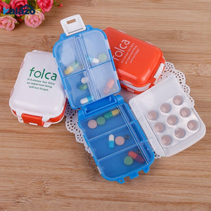 Plastic Weekly Folding Medicine Tablet Pill Box Case Portable Candy Vitamin Container Storage