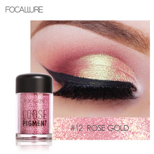 FOCALLURE Glitter Eye Shadow 18 Colors Cosmetic Makeup Diamond Lips Loose Makeup Eyes Pigment Powder