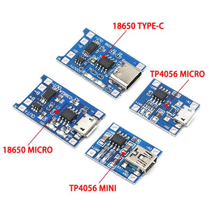 type-c / Micro USB 5V 1A 18650 TP4056 Lithium Battery Charger Module Charging Board With