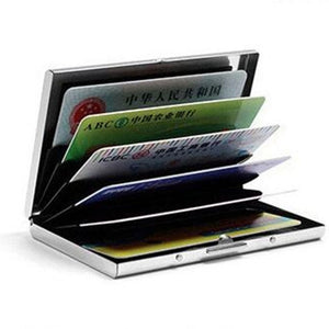 1 PC Aluminum Metal Credit Card Holder Slim Anti-Scan RFID Blocking Wallet Case Business Card