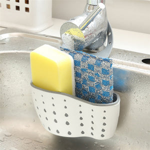 Sink Shelf Soap Sponge Drain Rack Bathroom Holder Kitchen Storage Suction Cup Kitchen Organizer Sink