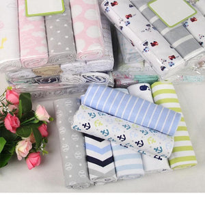 4Pcs/Lot Baby Blankets Newborn Muslin Diapers 100% Cotton Baby Swaddle Blanket for Newborns