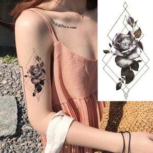 1 Pieces/set Small Full Flower Arm Temporary Waterproof Tattoo Stickers Fox Owl for Women Men Body