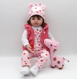 bebe doll reborn toddler 47cm soft silicone reborn baby dolls soft body lifelike menina Christmas