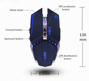 ZUOYA Professional gamer Gaming Mouse 8D 3200DPI Adjustable Wired Optical LED Computer Mice USB