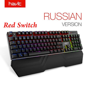 HAVIT Mechanical Keyboard 87/104 keys Blue or Red Switch Gaming Keyboards for Tablet Desktop